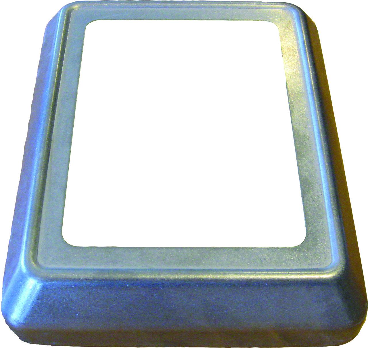 Рама для пневморозетки, нержавеющая сталь, приподнятый монтаж, хромированная