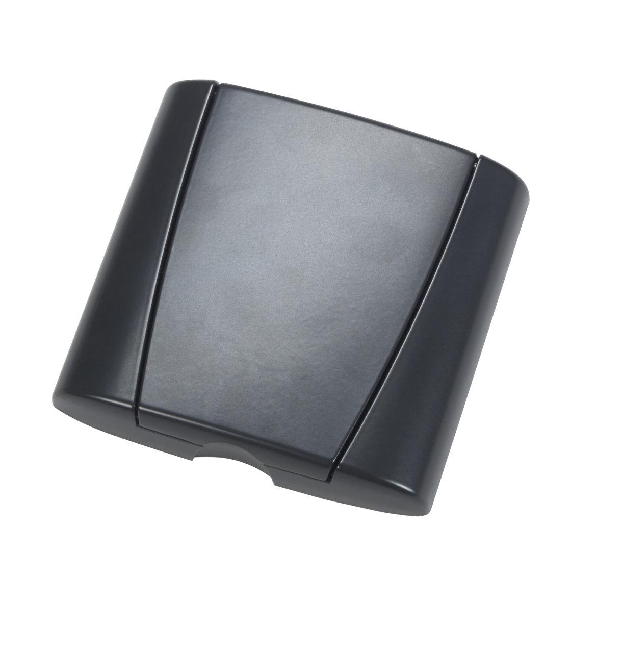 Metalli kansiasennelma Optima, antrasiitti musta, lukoton