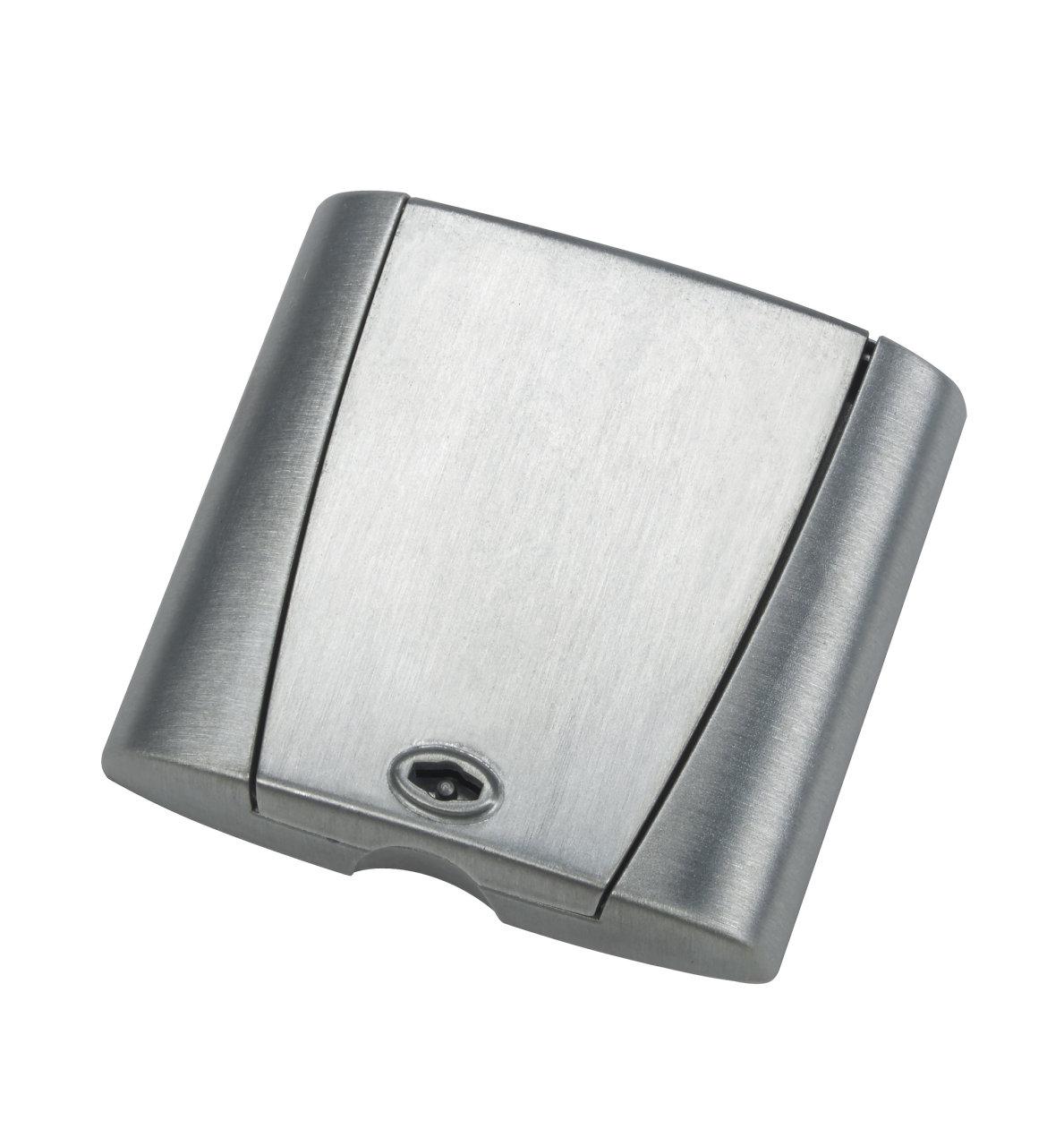 Metalli kansiasennelma Optima, harjattu hopea, lukollinen